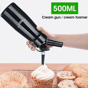 채찍 크림 디스펜서 스테인레스 스틸 500ML 전문 위퍼 메이커 커피 신선한 크림 버터 디스펜서 위퍼 바다 배송 DDA187