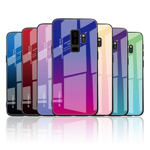 Gradiente de cor de vidro temperado de telefone para o iPhone 11 SE2020 XS XR 8plus Samsung Nota 10 macio TPU tampa traseira com Opp Bag