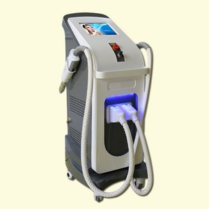 Professional 2 handles Spot Pigment Acne Tattoo Removal Opt Shr Nd Yag Laser E-Light Ipl Hair Removal Machine