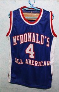 Custom Men Youth women Vintage #4 CHAUNCEY BILLUPS McDONALDS ALL AMERICAN basketball Jersey Size S-4XL or custom any name or number jersey