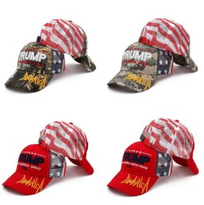 Donald Trump Baseball Cap Trump 2020 Embroidered KEEP AMERICA GREAT Camouflage Caps Camo Trucker Party Hats OOA8053