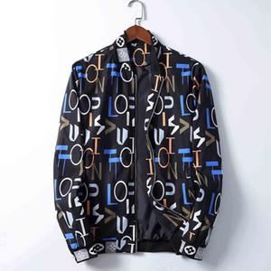 20Popular Марка Мужская куртка Bermuda Европейский Hip Hop Печатается с длинным рукавом куртки осень-зима Новая мода V-образным вырезом Роскошный Customized костюм