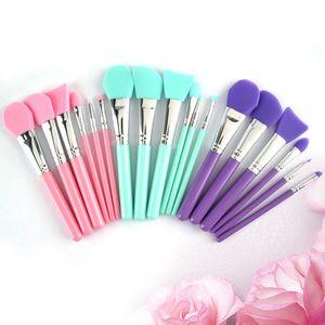 Silicone Makeup Brush Set 6pcs Face Mask Brushes Eyeliner Eyeshadow Foundation Beauty DIY Mask Make up Brushes Tools