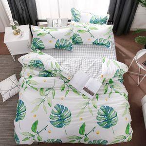 해군 핑크 러브 레터 침대 3 / 4 개 어린이 소년 소녀와 성인 침대 라이닝 잎 이불 커버 침대 시트 베개를 설정합니다