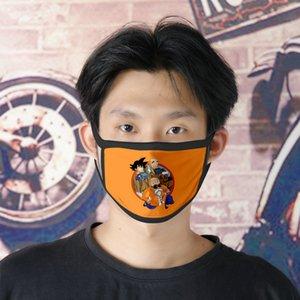 Dhl Free Shipping Son Goku 0620 Cartoon Facemasks Cute Face Mask For Boys Ice Silk Bilayer Cubrebocas Masque Tissu Tapaboca ce2007 TTuDP