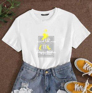 2020 Verão Designer T-shirts Para Homens Mulheres T-shirt com letras DIY Moda Mens Casual T-shirt Tops Plus Size M-4XL