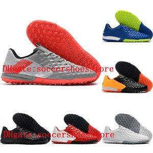 2020 top quality mens soccer shoes Tiempo Legend VIII Pro TF indoor soccer cleas low ankle football boots Tacos de futbol blue