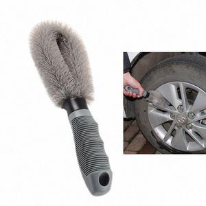 Carclean Detailing Lavado rueda de coche del cepillo cepillo de limpieza de herramientas neumáticos Limpiar Tipo de aleación de cerda suave del limpiador del Automóvil Productos para el coche # LMjL
