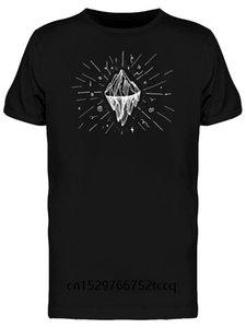 Trendy kreative Grafik-T-Shirt Top Mountain Icon Tattoo-T-Shirt für mans
