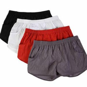 남성 홈 생활 반바지 포켓 속옷 복서 팬티 팬티면 분할 반바지 잠옷 쿠에 카 4 색