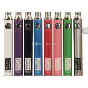 Otantik UGO V III V3 650 900mAh EVOD Ego 510 pil Spinner 3s batarya vs mikro USB Şarj Geçiş vape pil 8colors