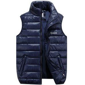 Autumn and winter new thickened down cotton vests young men's vest jackets tide plus size men's tide casual jackets #b34
