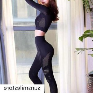 Body Yoga suit fitness suit women's net red elastic ins sexy suit leisure spring and summer navel-free dress training