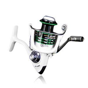 Luckinvoker рыболовная катушка 5,2: 1 Передаточных Максы Drag 8Kg золотник Spinning Металл Мультипликаторы Reel Ручка Рыбалка Reel Wheels белой