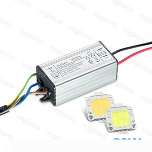 Lighting Transformers Full Power 20W 600MA 110V 220V Waterproof IP65 Aluminum Silvery With Cool White COB Chip For Floodlight Spotlight DHL