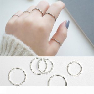 Fine Jewelry Simple 925 Sterling Silver Rings for Women New Twist Knuckle Ring Real Silver Finger Ring