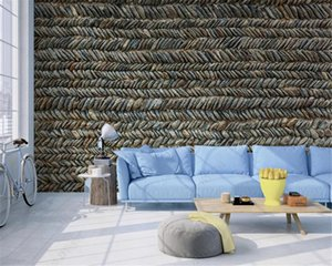 Custom 3d European Style Wallpaper Three-dimensional stone texture Rural Decoration Silk Mural Wallpaper