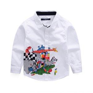 Boysnew enfants tong tong chen shan animaux chen shanshirt de shirtcartoon enfants impriment style coréen chemise à manches longues