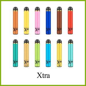 Tek vape XTRA 1500 puf 5.0 ml kartuşları doldurulmuş önceden elektronik sigara başlangıç kitleri 14 renk tek ecigs puf Xtra DHL serbest
