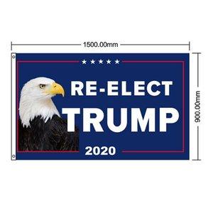 ترامب 2020 العلم 90 * 150cm والحفاظ على أعلام رئيس أمريكا العظمى لافتات الأمريكية الانتخابات الطباعة الرقمية شعار العلم DDA215