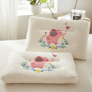 Kids Pillow Natural Latex Baby Bed Pillows For Sleeping Cartoon Printing Children Pillows For 0-12 Years Old T200603