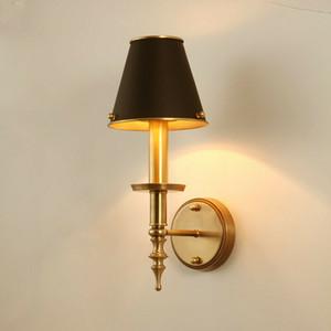 Modern Copper Wall Lamp Nordic Preto arandela Luz Sala Home Decor aparelho de iluminação WA135