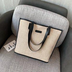 3144 winter new large hand capacity single shoulder handbag fashion linen fashion casual simple Korean style bag for women