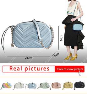 Entrega rápida Bolsos de las mujeres de la alta calidad Bolsos de la cadena plateada Bolsos de hombro Crossbody Soho Bag Disco Messenger Bag Marmont Serie Bags Wallet