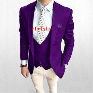 Handsome One Button Groomsmen Peak Lapel Groom Tuxedos Mens Wedding Dress Man Jacket Blazer Prom Dinner suits (Jacket+Pants+Tie+Vest) W192