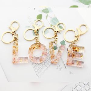 Женщины автомобилей брелок Золото Розовый Keyrings держатель Мода на заказ A-Z алфавит 0-9 Количество Буквица Сумка Подвески Ключевые Кольца Цепочки Аксессуары