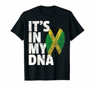Bandera negro de Jamaica Camiseta jamaicana orgullo Dna mujeres de los hombres del regalo La Camisa 100% de algodón del envío Topstee