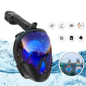 Underwater Diving Mask Full Face Snorkel Swimming Goggles Diving Equipement For Adult Kids
