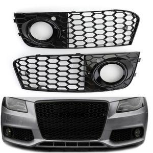 Areyourshop coche Par de nido de abeja de malla abierta la luz de niebla Rejilla de ventilación de admisión para Audi A4 B8 2009-2012 Car Auto Parts Accessories