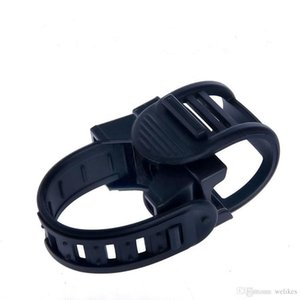 New 360 Swivel High Elastic Rubber Bicycle Bike LED Flashlight Light Mount Bracket Holder Torch Clip Clamp Cycling Grip Mount Lights Holders