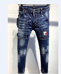 HOT Arrival Winter Mens Designer Jeans off Style High Street Letter Jeans Quality Fashion Classic Designer Mens Pant Top Quality 2254