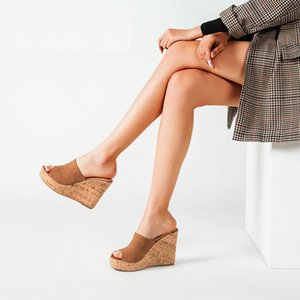 11cm Superabsatz Sandalen Frauen sexy Blickzeheplattform Pantoffeln große Größe 42 43 Gladiator Sandalen Mujer Sommerkeilfrauen