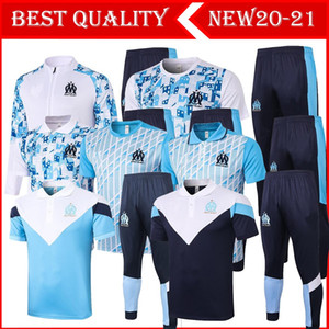 2020 2021 Marseilles THAUVIN short sleeve training suit Marseille PAYET tracksuit short sleeve training suit pants tracksuit