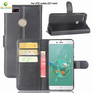 Pour ZTE cuir portefeuille lame V8 Lite litchi couverture téléphone PU TPU Case pour ZTE Nubia Z17 mini-lame pour ZTE A452 L5