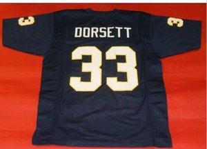 Hommes Femmes sur mesure jeunesse vintage # 33 Tony Dorsett PITTSBURGH College Football Jersey taille s-4XL ou sur mesure tout maillot de nom ou le numéro