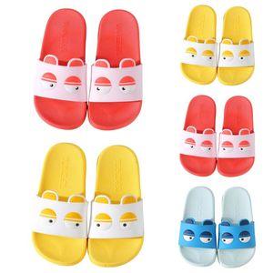 2020 SIKETU 2-6 años Niños Inicio Zapatillas ocasional del verano lindo baño unisex de los niños de dibujos animados plana zapatillas Rojo Amarillo