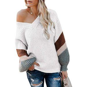 Modo delle donne V-Neck Maglioni Sexy 2020 maniche donne maglione lungo di nuovo arrivo per l'autunno e l'inverno casual signore Top Abbigliamento