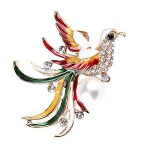 Павлин брошь дизайнер Phoenix Броши Красочные птицы Pin Мода Женщины Свадебные пальто Одежда Аксессуары Девочки Подарочные Пин ювелирные изделия