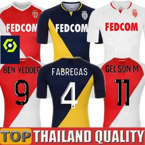 2020 2021 Top Qualité AS Monaco BEN YEDDER Maillots de foot JOVETIC GOLOVIN Maillot de foot 20 21 maillot Flocage JORGE Hommes Kit enfant uniforme