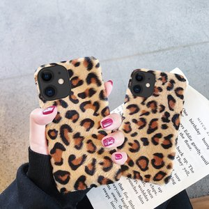 For iPhone 11 Pro X Xr Xs Max 8 7 6S 6 Plus Case Warm Leopard Soft Plush Fluffy Fur TPU Flexible Back Cover For iPhone 5 5S SE