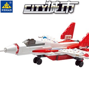 Kid toy 80+pcs J-10 & J-13 the city cruiser plane series block toy for child block gift 08