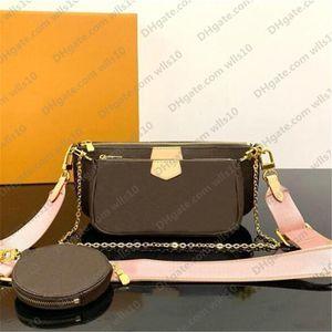 Сумочка сумки женщины Мульти Pochette мешок цепь Crossbody мешок моды Малый мешок плеча 3 шт кошелек мульти цвет ремни 44823 с коробкой LB72