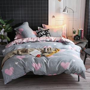 Big Deal grauer Winter Tröster Bettwäsche-Sets Hochzeit Heimtextilien Bettwäsche Pink Love Big Doppelbett Bezug-Set für Mädchen z7nG #