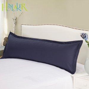 Cubierta Funda de almohada de algodón en color Honlaker Macarons largo almohada suave y transpirable