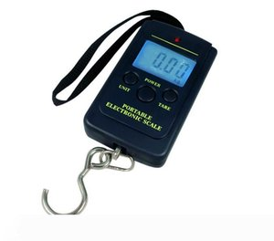 10g 40Kg Pocket Digital Scale Electronic Hanging Luggage Balance Weight without batteries and retail box 100pcs lot