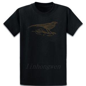 Uccello Silhouette T shirt Long Tail Famiglia Primavera Autunno allentato casuale personalizzata manica corta Circolare standard Camicia Collare